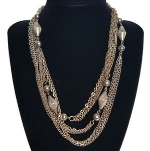 Long Layering Chain Multi-strand Necklace Vintage